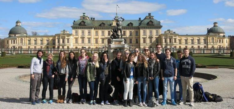 Foto der Gruppe in Schweden