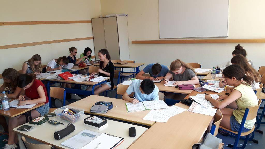 Schüler während des Kurses.
