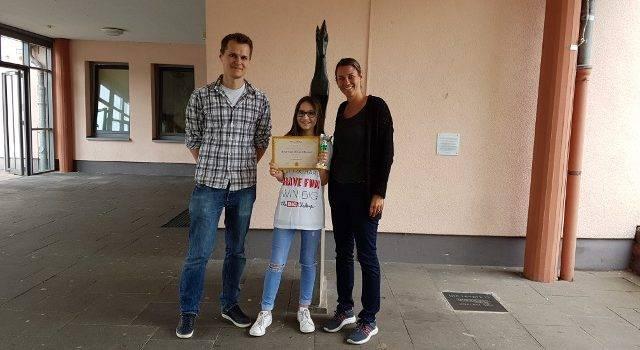 Thomas Jaspers (Englischlehrer), Katharina Wilges, Nicola Schwarz (Big Challenge Koordinatorin)